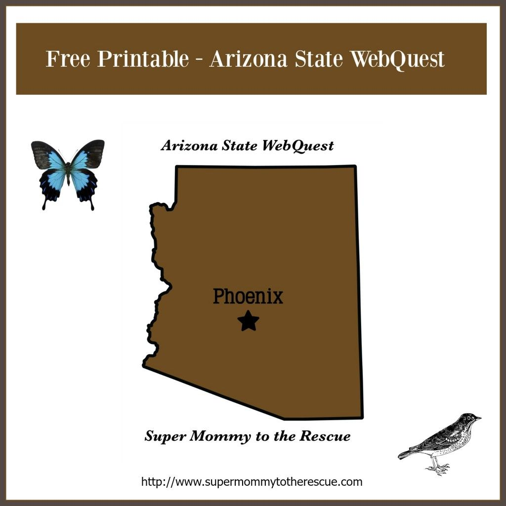 Free Printable Arizona State Webquest