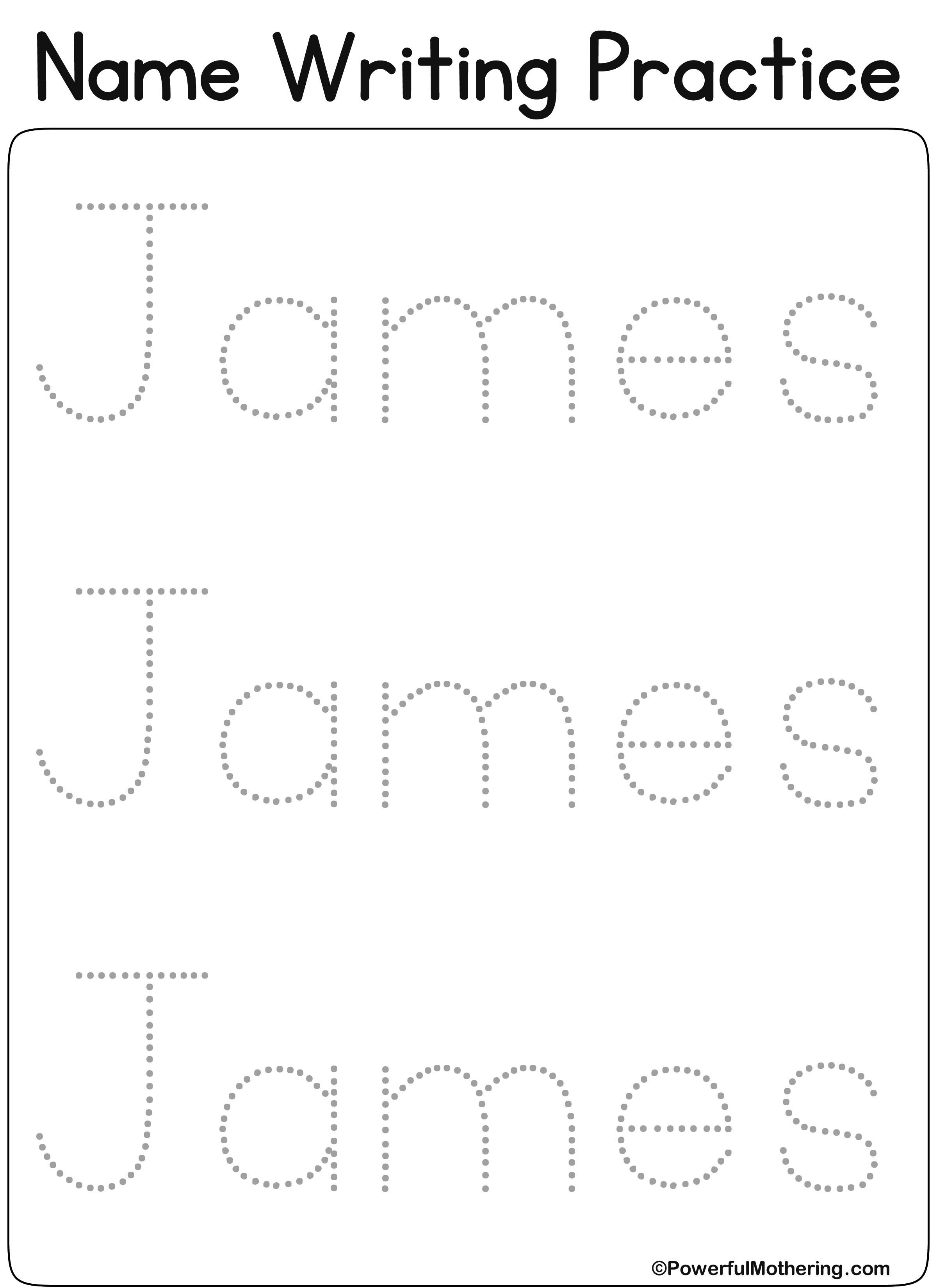 Eateprintables Custom Name Get Text James Amp Font 1