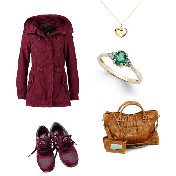 Balanciaga by lenibussi on Polyvore featuring polyvore, fashion, style, Khujo, New Balance and Argento Vivo