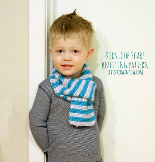 Kids Loop Scarf Knitting Pattern | Knitting patterns ...