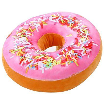 Cuscino A Forma Di Ciambella.Cuscino Di Peluche Imbottito A Forma Di Ciambella Donut Rosa Alla
