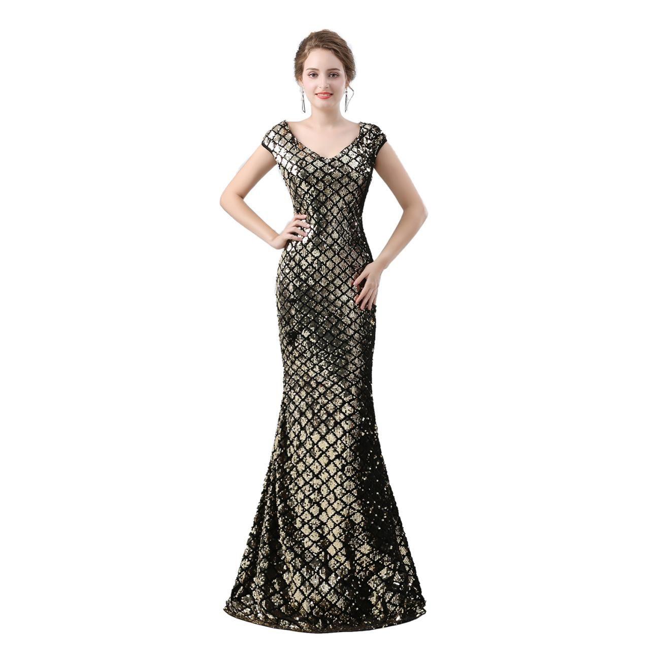 Prom dressgold prom dressmermaid prom dresseslong elegant prom