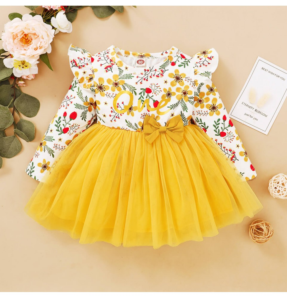Kimibear Toddler Girl 12m 4t Yellow Tutu Dress Dresses Tutu Dress Yellow Tutu [ 1000 x 961 Pixel ]