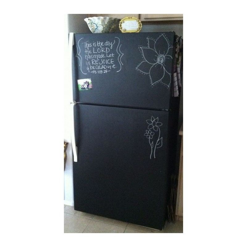 peinture ardoise tableau noir en 2019 raktreso evit an ti chalkboard paint fridge home. Black Bedroom Furniture Sets. Home Design Ideas