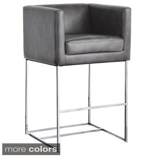 Miraculous Enzo Brushed Stainless Steel Counter Height Stationary Stool Caraccident5 Cool Chair Designs And Ideas Caraccident5Info
