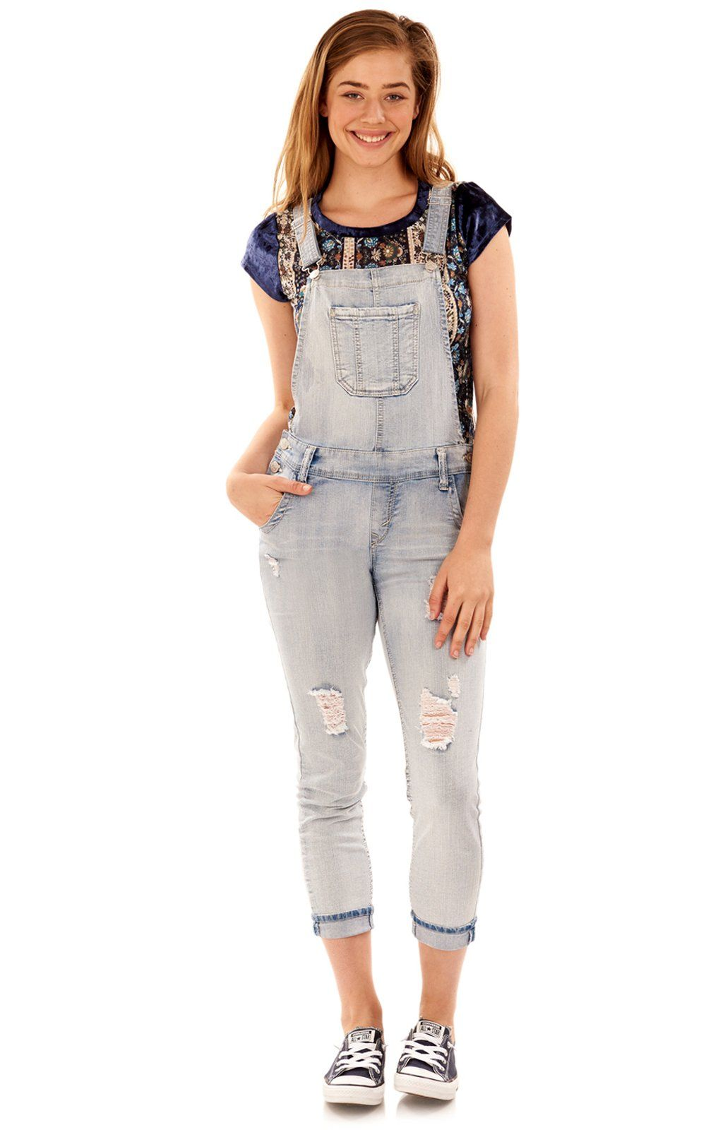 2e3f64d5cbc WallFlower Juniors Denim Overalls In Samantha Large   You can get more  details by clicking on