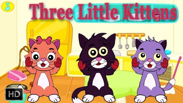 Three Little Kittens Nursery Rhyme Lyrics Cute Kitten Gif