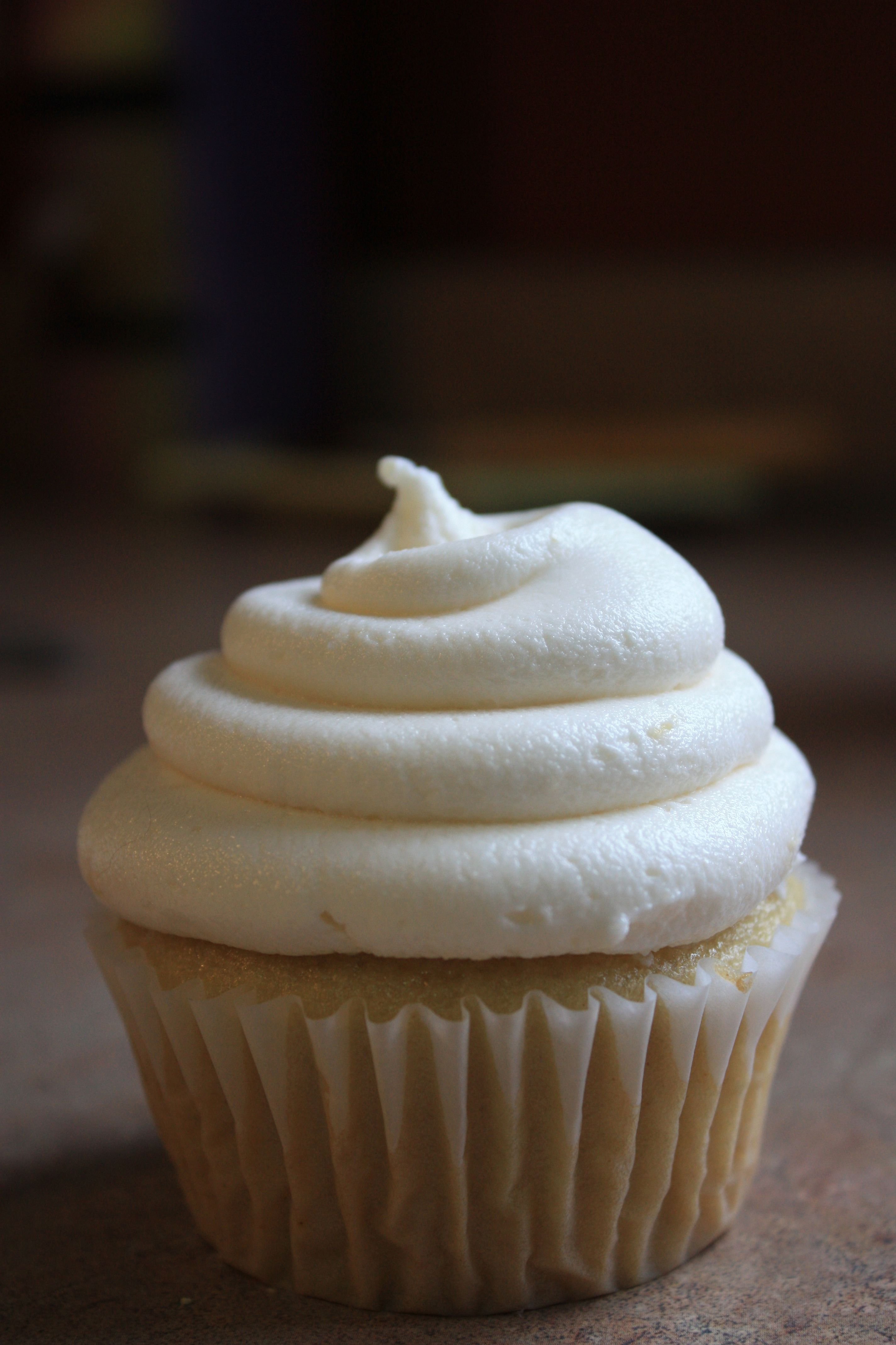 vegan vanilla cupcake from Vegan Cupcakes take over the World. i used coconut oil and almond milk.