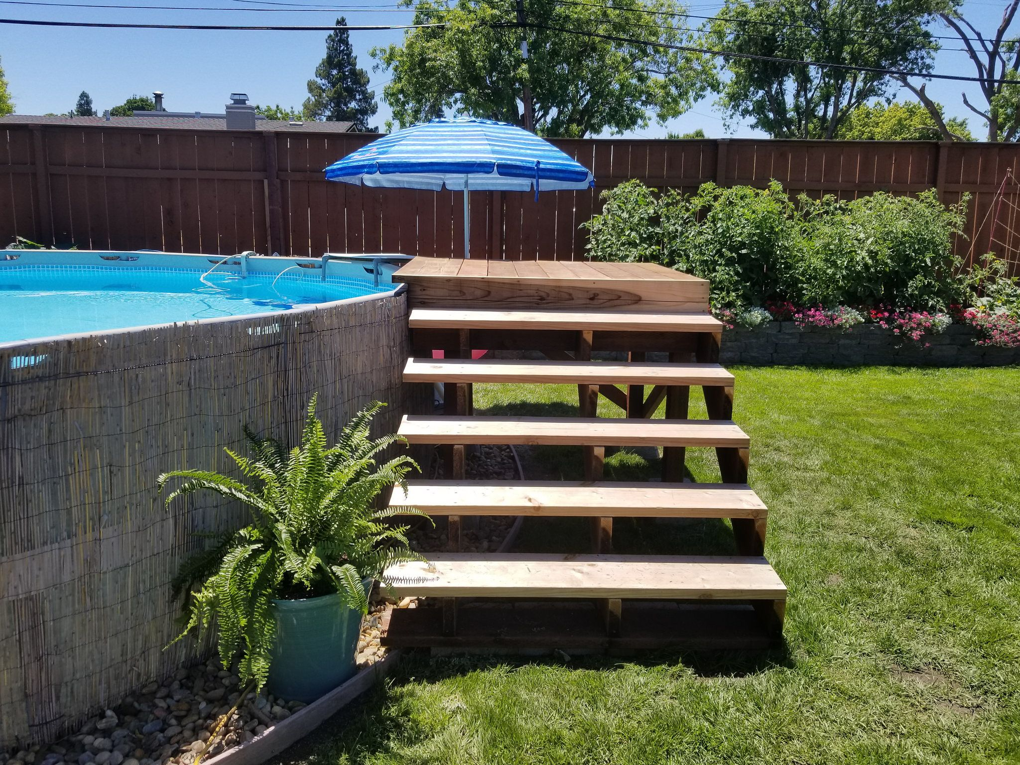 20170618_114845 Pool landscaping, Above ground pool