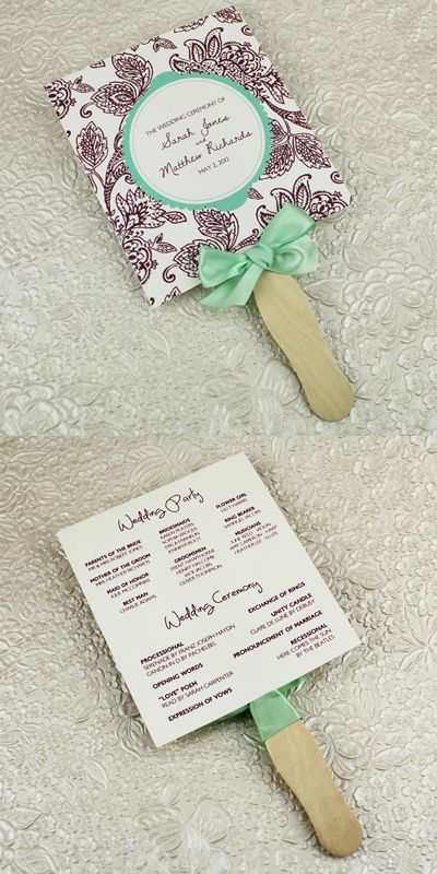 Wedding Program Paddle Fan Template u2013 Matelasse Design Program - how to design wedding program template