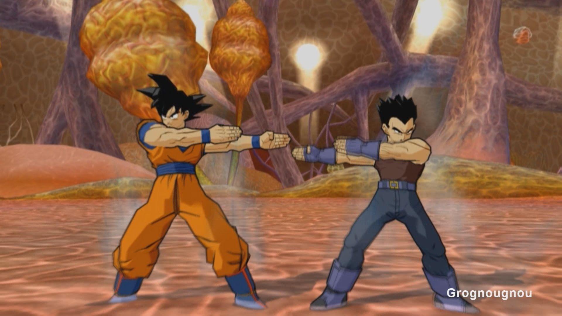 Vegeta GT and Goku fusion dance Mod inside Buu in Dragon