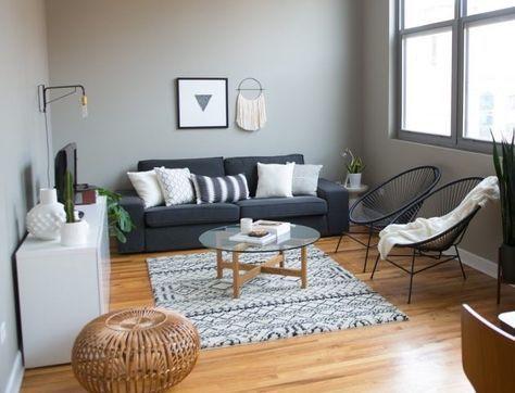 Salon gris et blanc - Blog décoration d\u0027intérieur Salons