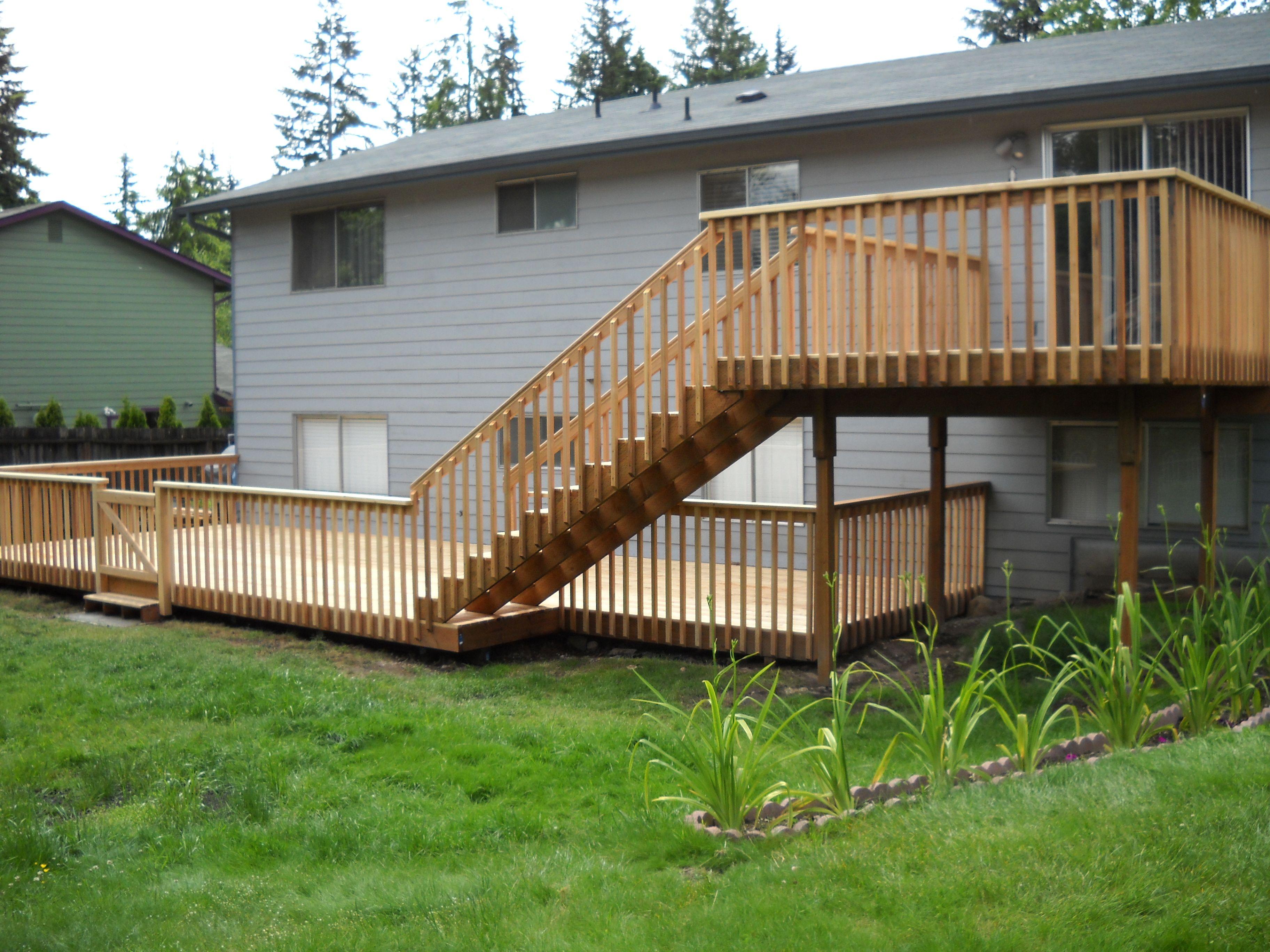 19 Decorative 2 Level Deck Ideas Home Building Plans 35441
