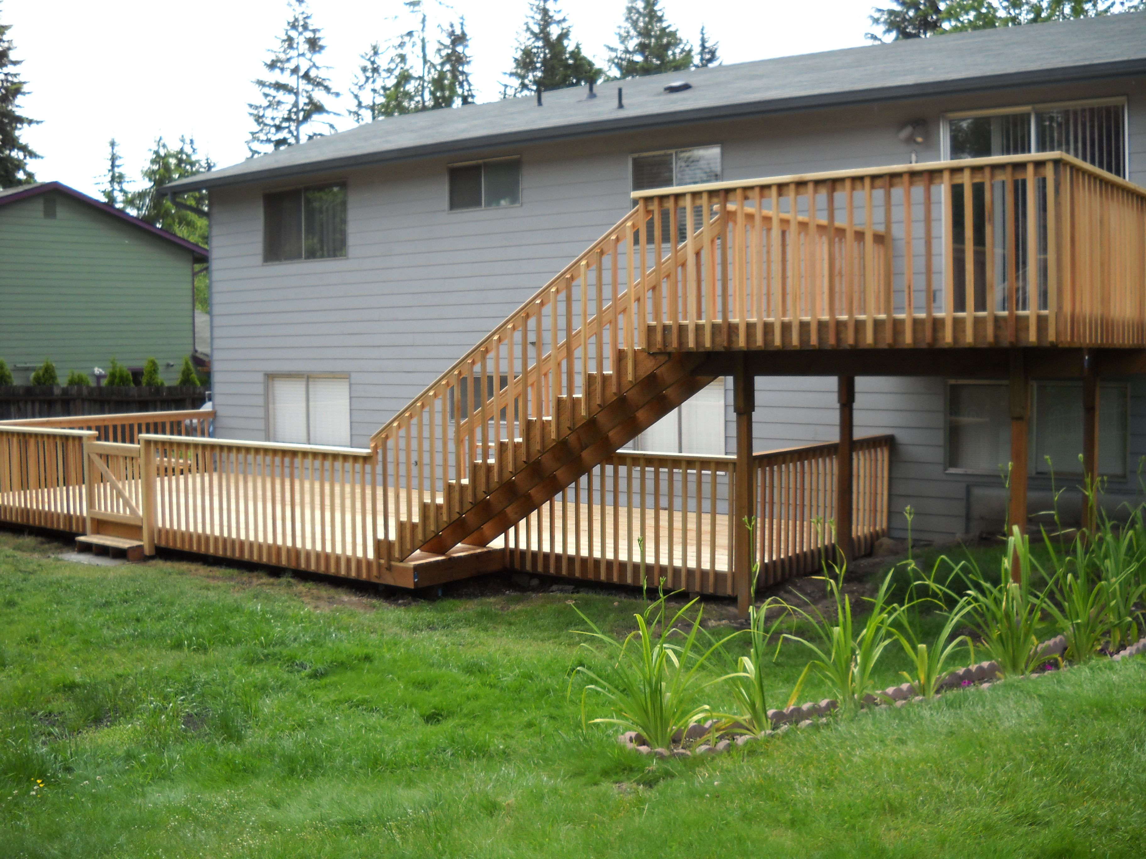 The Complete Guide About Multi Level Decks With 27 Design Ideas Building A Deck Backyard Deck Decks Backyard