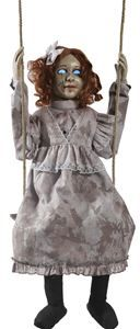 Swinging Decrepit Dessie Doll Animated Prop - 375390 | trendyhalloween.com