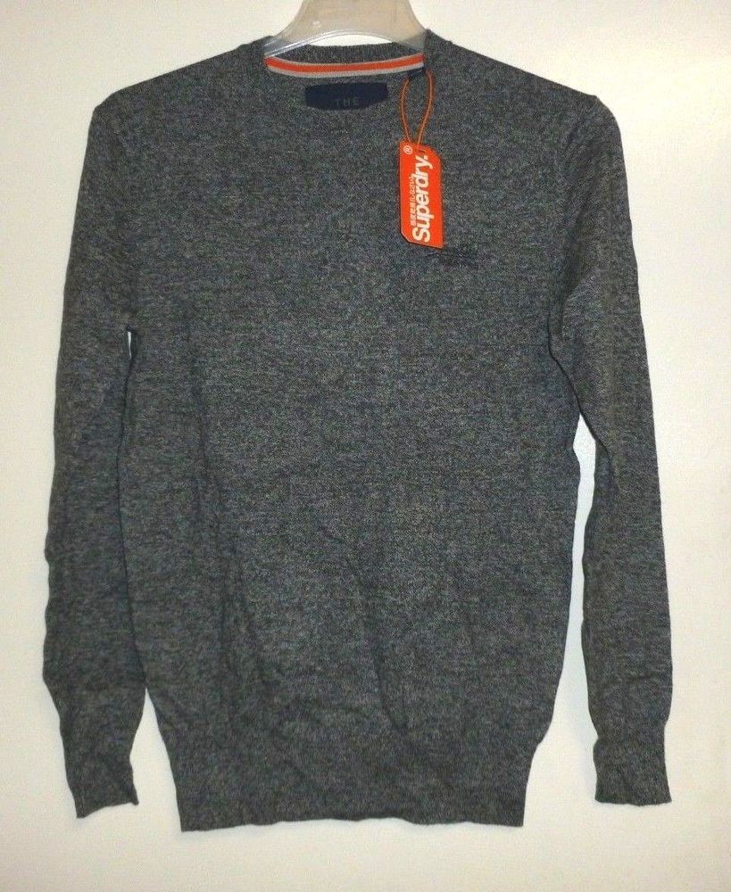 664b056a3d4d SUPERDRY ORANGE LABEL CREW Oyster Grey GRIT JUMPER SIZE S RRP 39.99 CR180  HH 05 #fashion #clothing #shoes #accessories #mensclothing #sweaters (ebay  link)