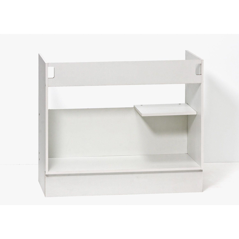 caisson de cuisine bas b100 ab 100 delinia blanc l100 x h85 x p56 cm 62eur leroy merlin. Black Bedroom Furniture Sets. Home Design Ideas