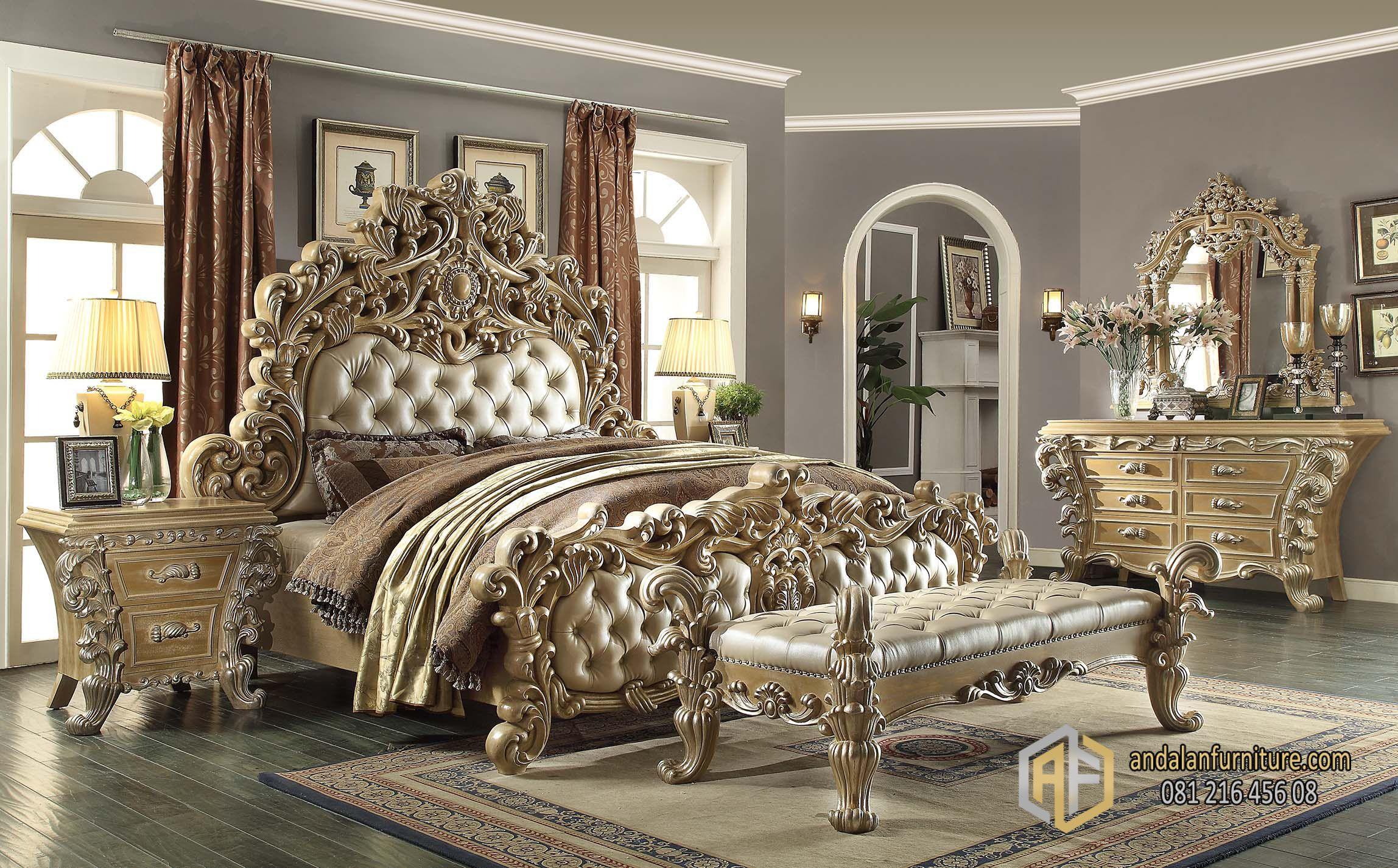 Kamar Tidur Mewah Satu Set Eksklusif Jepara Indah Furniture
