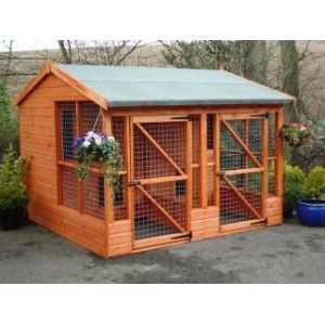 Possible Plan For Kennels Dog Houses Outdoor Dog Dog House