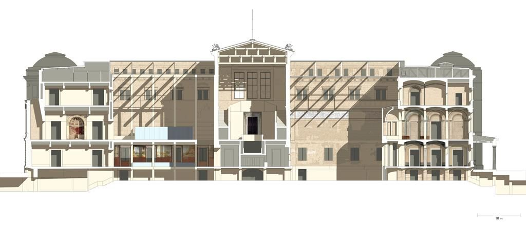 Neues Museum Section Through The Egyptian And The Greek