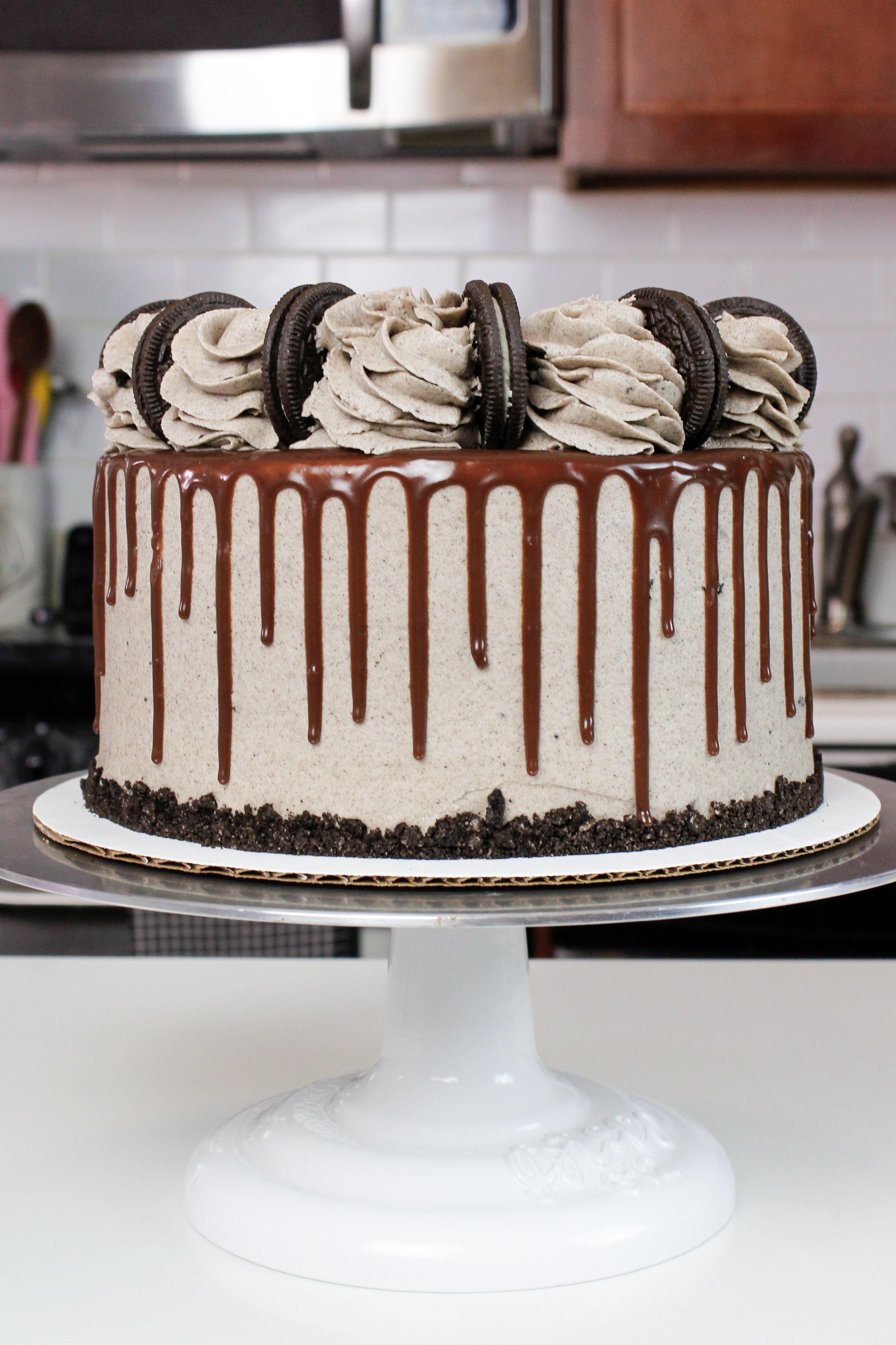 Oreo Drip Cake Recipe Chocolate Cake With Oreo Frosting Recipe Drip Cake Recipes Oreo Frosting Oreo Cake Recipes
