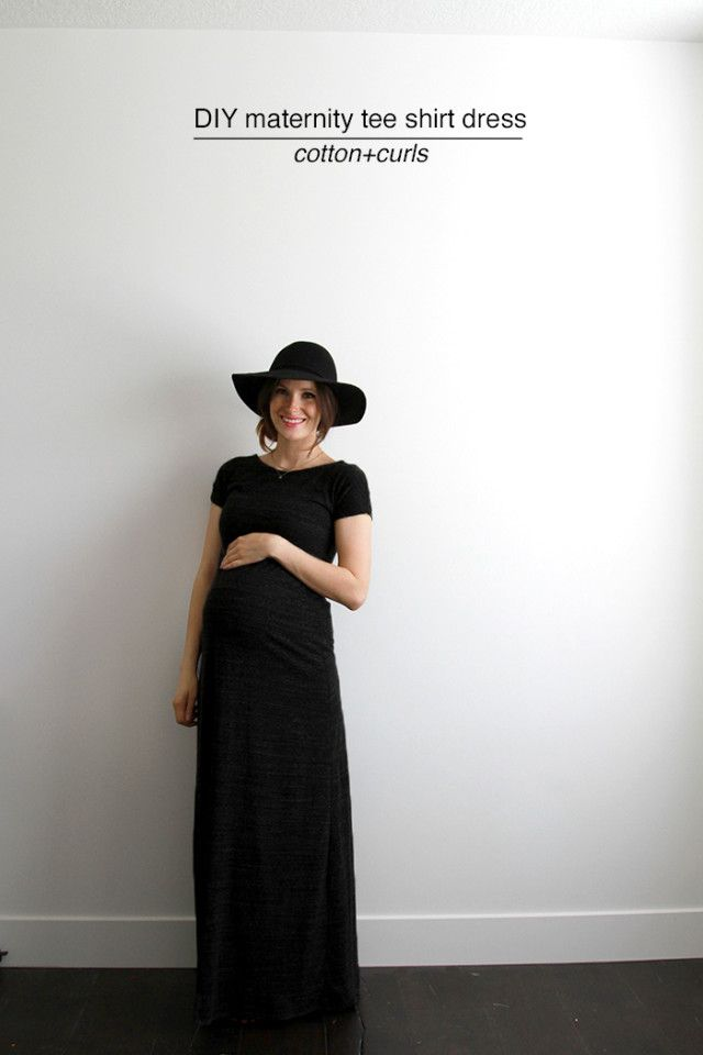 DIY maternity tee shirt dress (C&C) | Costura, Embarazo y Proyectos ...