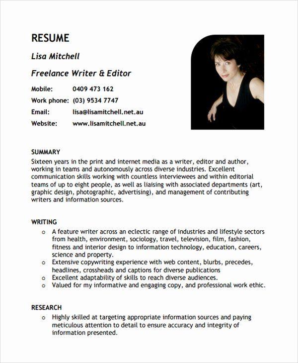 Freelance Graphic Design Resume Elegant Sample Freelance Resume Template 8 Free Documents
