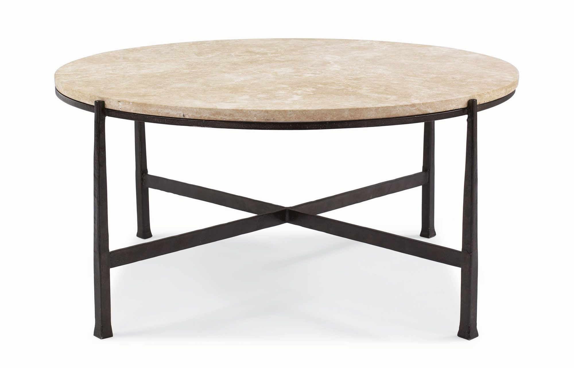 Bernhardt Duncan Round Metal Cocktail Table 418016S 418016