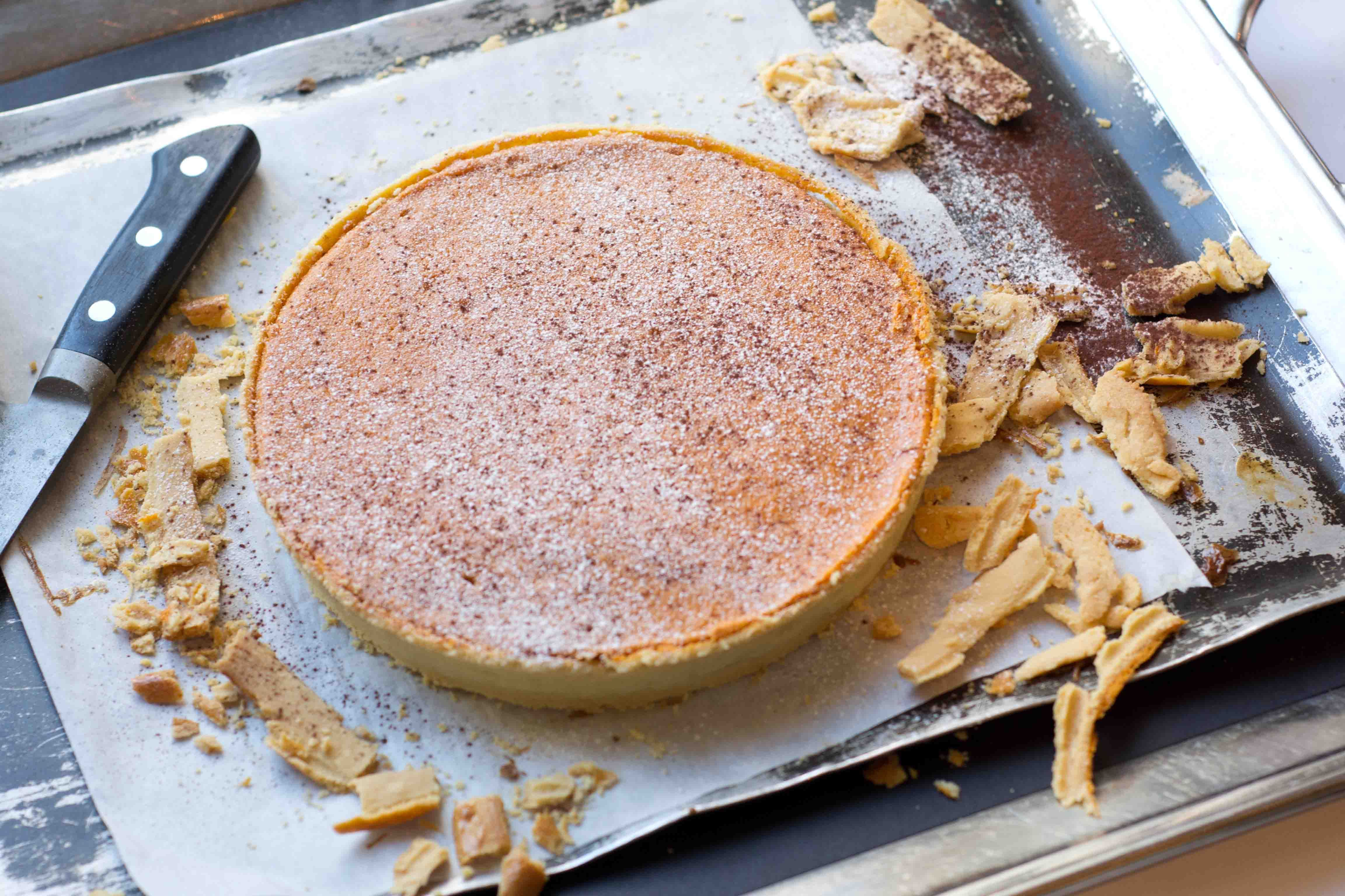 Weekend Recipe from Roux at The Landau - Chris King's Warm Spiced Pumpkin Tart http://rouxatthelandau.com/recipes/warm_spiced_pumpkin_tart/ #recipe