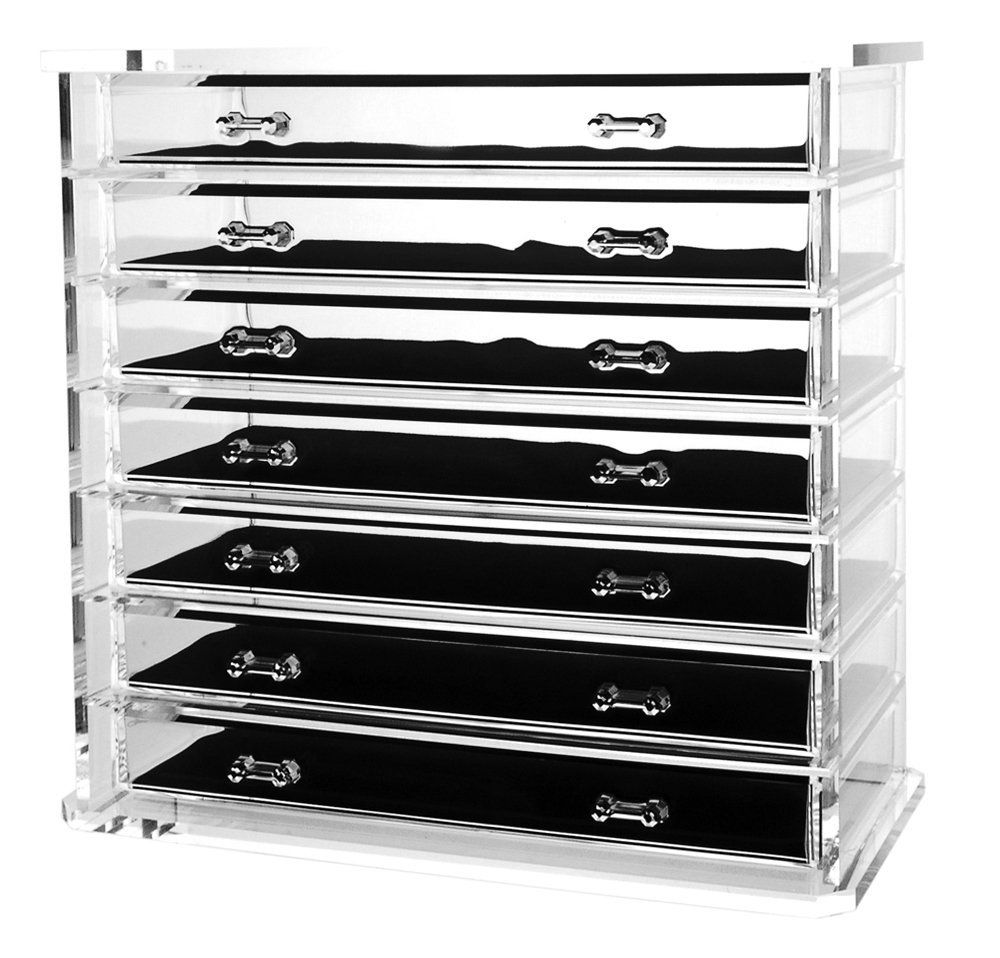 Amazon.com - Deluxe 7-drawer Acrylic Jewelry Chest or Cosmetic ...
