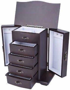 6 Saganizer Cherry Wooden Jewelry Box Organizer Top 7 Best Wooden