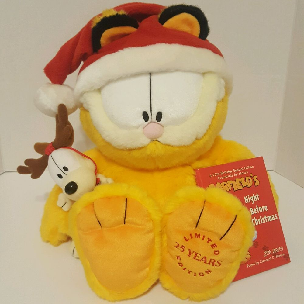07724e77ab927 Garfield Collectible Limited Edition 25th Anniversary Years Macys ...