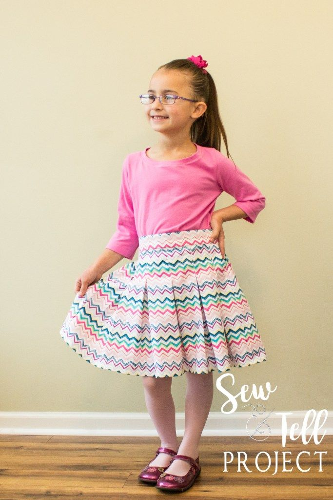 2eece5f8e5 FREE PATTERN for an adorable pleated skirt and top for girls AND women.  Perfect for holiday outfits, school uniforms, and everything in between.