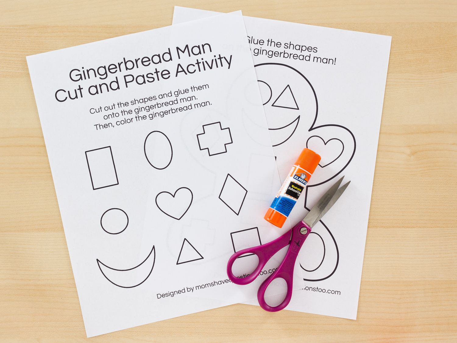 Gingerbread Cut And Paste Activity