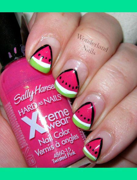 Watermelon Nail Art | Watermelon Nail Art