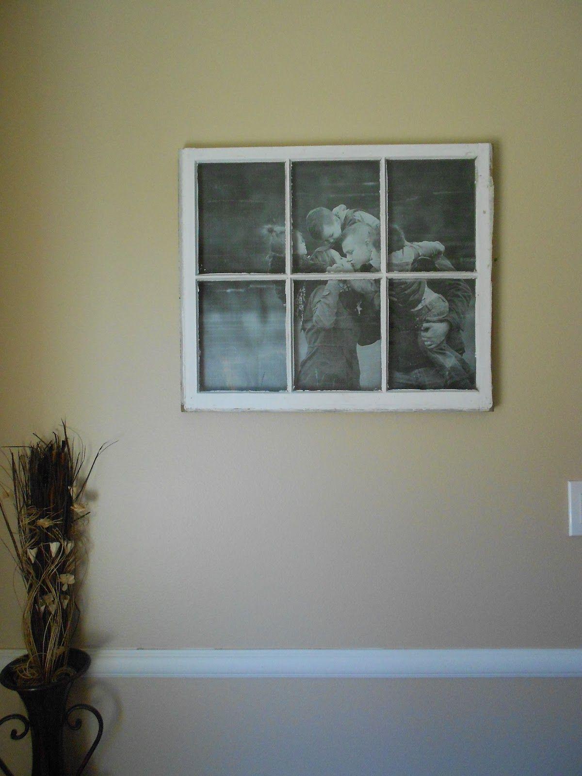 Convertir las ventanas viejas en portaretratos o simples marcos para ...