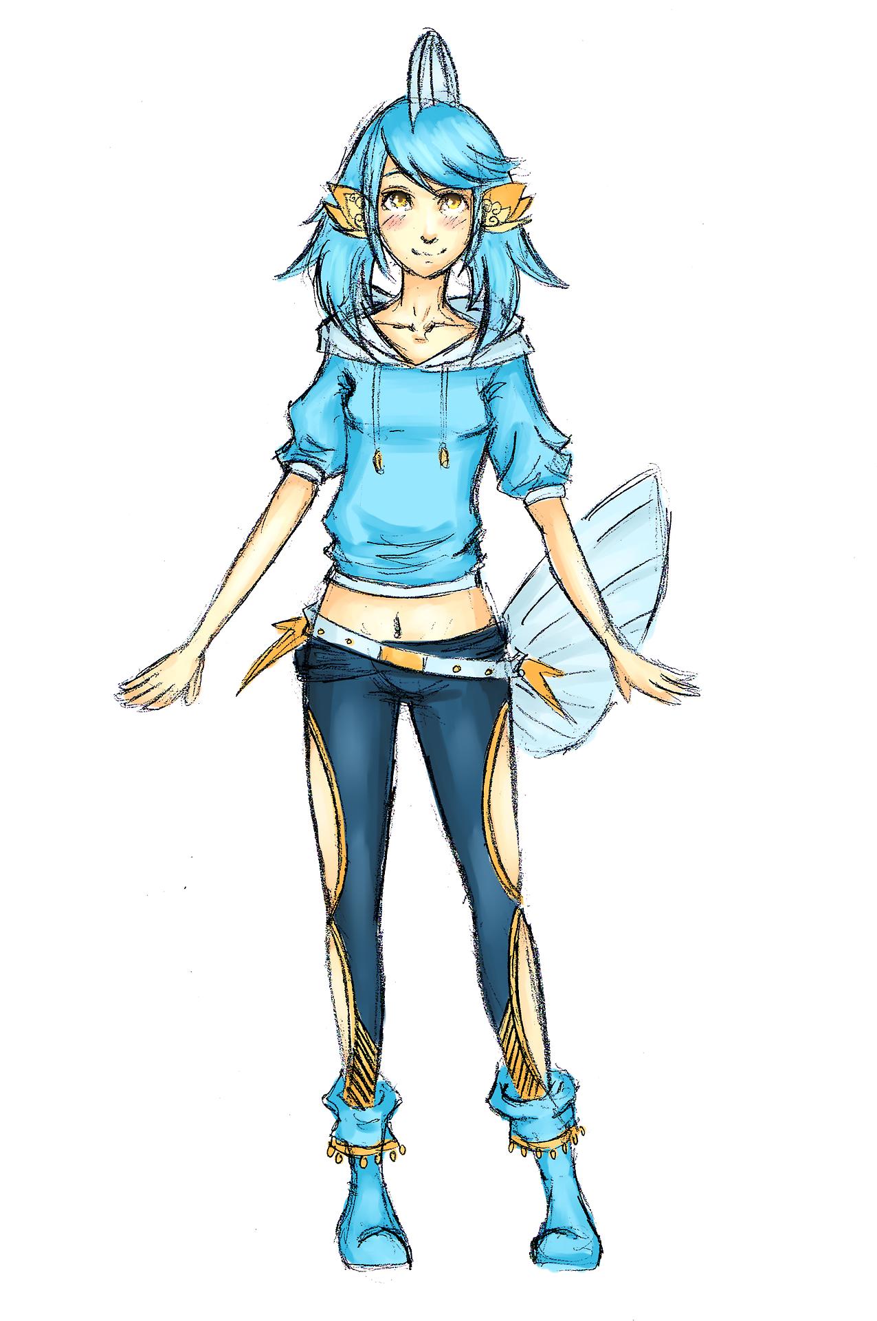 human version gijinka pokemon, mudkip