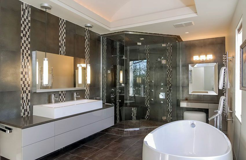 40 Modern Bathroom Design Ideas Pictures Modern Master Bathroom Bathroom Design Black Modern Master Bathroom Remodel