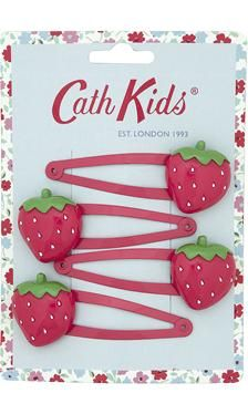Cath Kidston - Pack of 4 Strawberry Hair Clips