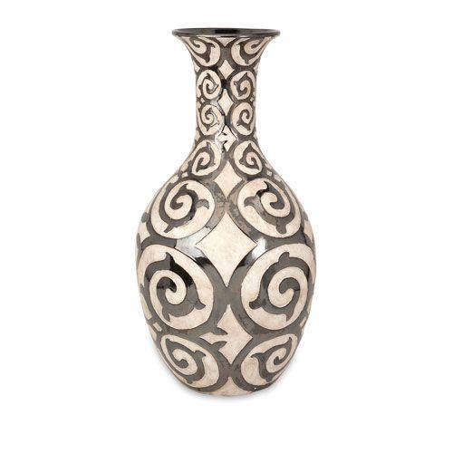 Benigna Bronze And Cream Tall Oversized Floor Vase Tall Floor