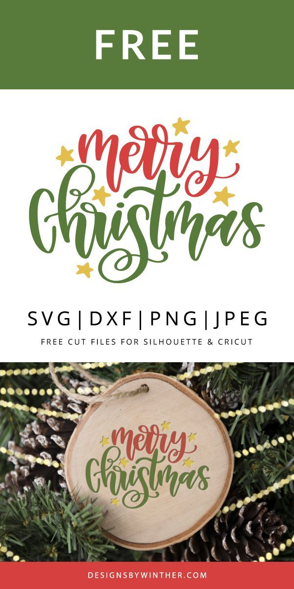 Free Merry Christmas SVG DXF PNG & JPEG nel 2020 | Natale, Fai da te