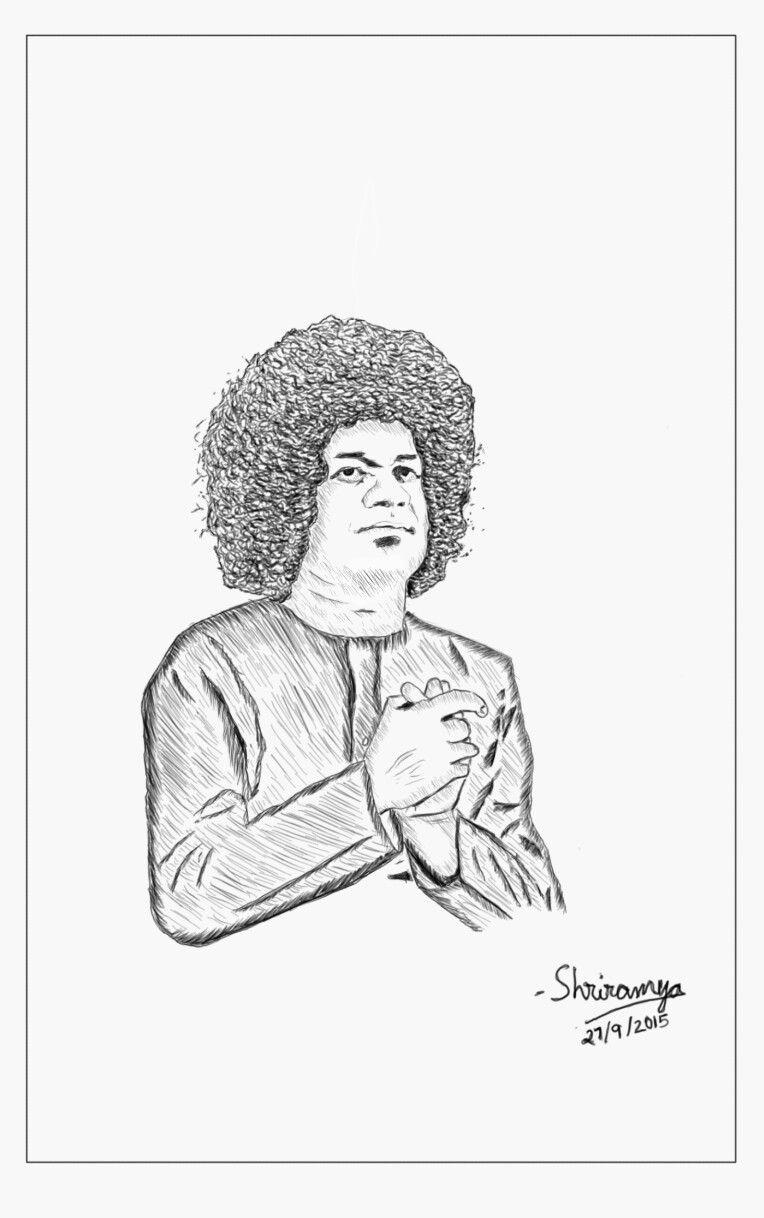 My Drawing Of Swami My Drawings Sathya Sai Baba Sai Baba