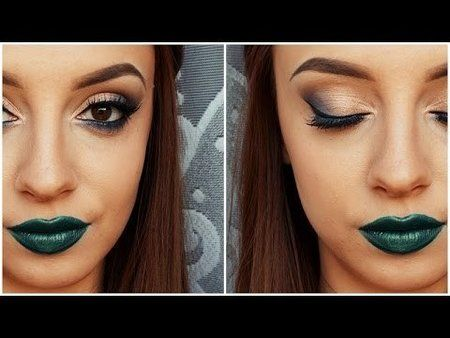 Green Lip Makeup Tutorial #prettylooks #howto #smokyeye - bellashoot.com & bellashoot iPhone & iPad app