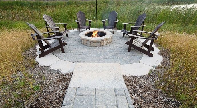 Fire pit kits rosetta firepit barkman barkman for Precast concrete outdoor fireplace kits