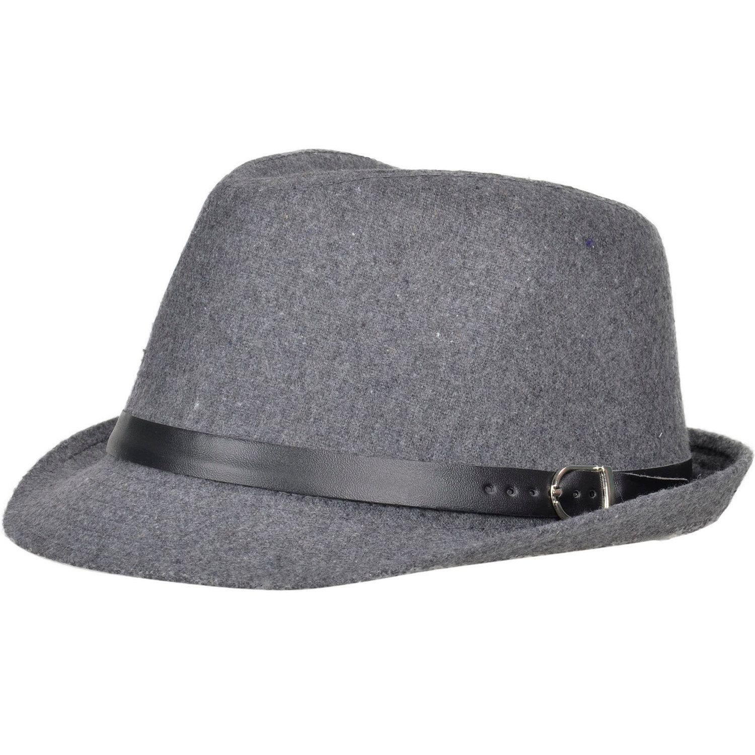 0be421387bff3 Simplicity Unisex Structured Gangster Trilby Fedora Hat