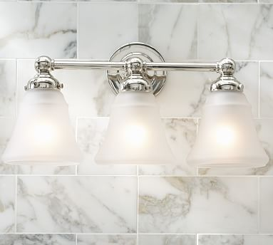Sussex Sconce Triple Chrome Finish Bath Master Bathrooms And Lights - Triple sconce bathroom lighting