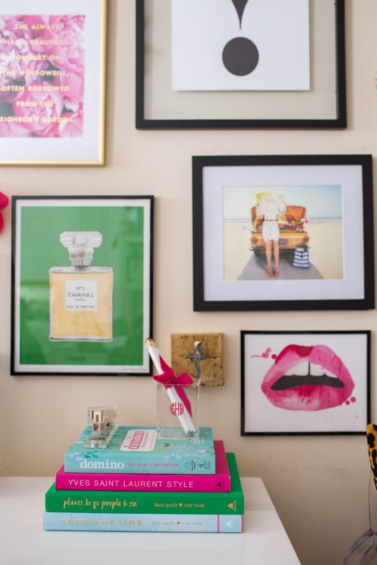 Kate Spade Gallery Wall Prints for Sale along with my green Chanel print available & Kate Spade Gallery Wall | Chanel print Gallery wall and Walls