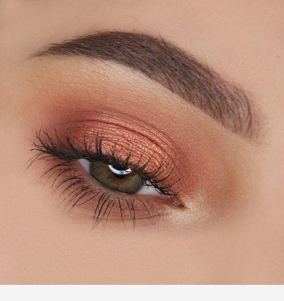 Photo of Bronze eye make-up #eyes #bronzeyemakeup #bronze #makeup – fine bronze eye …