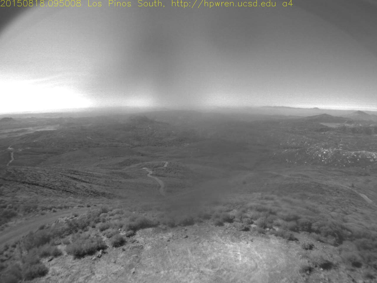 Wildfire Watch Webcams - pictured: Los Pinos ~south view - Fallbrook, CA  ---  United States : hpwren.ucsd  #California #Fires