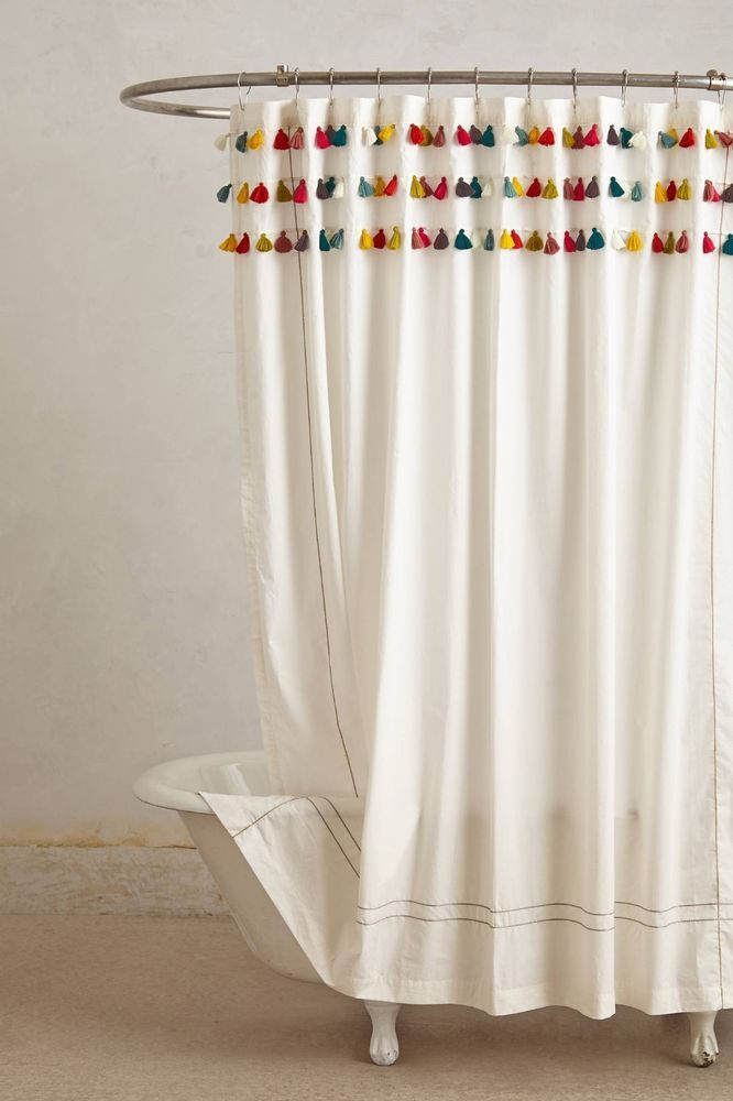 US 10999 New With Tags In Home Garden Bath Shower Curtains
